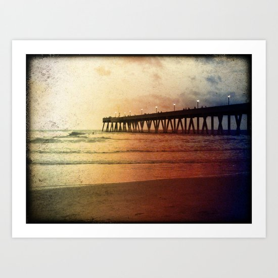 Johnny Mercer's Fishing Pier Art Print