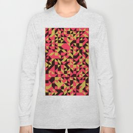 Abstrato Geométrico Long Sleeve T-shirt