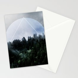 Foggy Woods 3X Stationery Cards