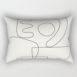 Minimal Abstract Shapes 01 Rectangular Pillow