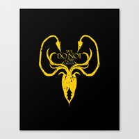 westeros Canvas Prints featuring Greyjoy by Passion Grows Within