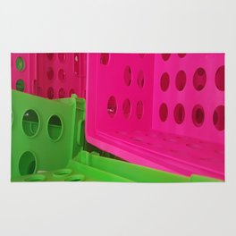 Crates in Pink and Green Rug
