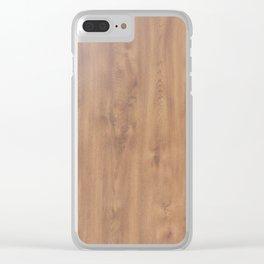 Dark timber pattern Clear iPhone Case