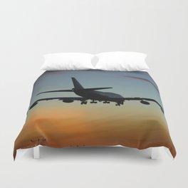 747 Sunset Landing Duvet Cover