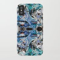 metallic iPhone & iPod Cases featuring Metallic by Lara Gurney