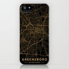 Greensboro, United States - Gold iPhone Case