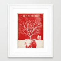 true detective Framed Art Prints featuring TRUE DETECTIVE by Fan Prints