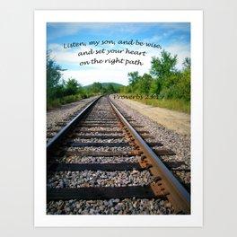 Proverbs 23:19 Art Print