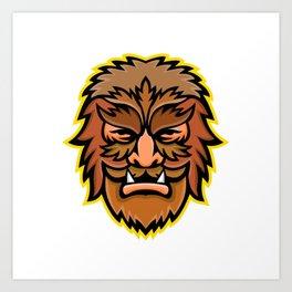 Circus Wolfman or Wolfboy Mascot Art Print