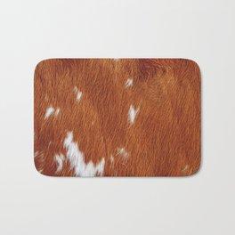 Tan Cowhide Smooth Texture Bath Mat