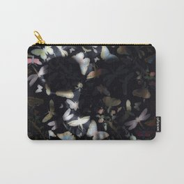 Butterfly And Skull Carry-All Pouch