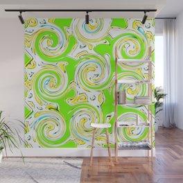 Swirly Green Lite Wall Mural