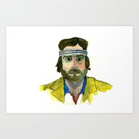 Art Print featuring Richie Tenenbaum by Tessa Heck
