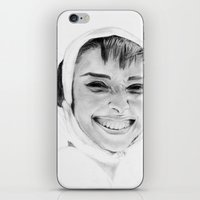 audrey iPhone & iPod Skins featuring Audrey by Belay