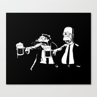 simpson Canvas Prints featuring Pulp Simpson by Stationjack