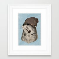 otter Framed Art Prints featuring OTTER by Thiago Bianchini