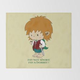 I'm not short, I'm a hobbit Throw Blanket