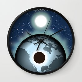 USA Solar Eclipse 2017 Wall Clock
