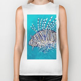 Lion Fish 3, a pretty predator & invasive species Biker Tank