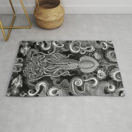 The Kraken (Black & White - No Text) Rug
