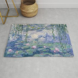 Water Lilies Claude Monet Fine Art Rug
