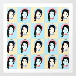 Cute Girls Art Print