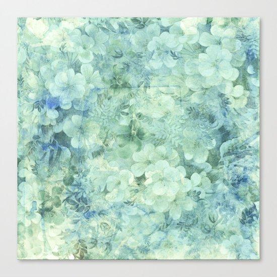 fleurettes and soft blue Canvas Print
