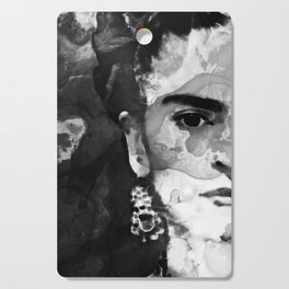 Black And White Frida Kahlo by Sharon Cummings Cutting Board