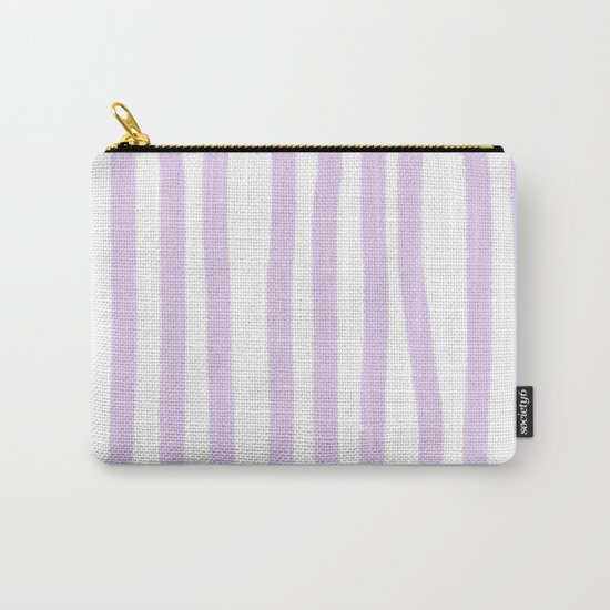 Lavender Stripes Carry-All Pouch