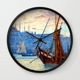 Tristram Ellis The Golden Horn Wall Clock
