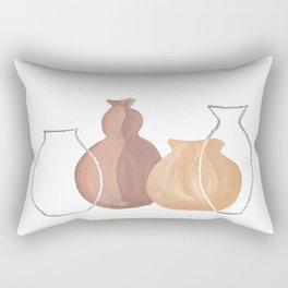 Abstract boho vases Rectangular Pillow
