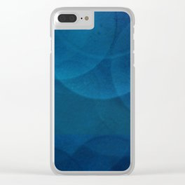 Bokeh in Blue Clear iPhone Case