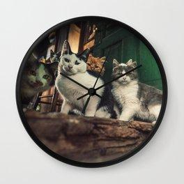 Family of Cats Wall Clock
