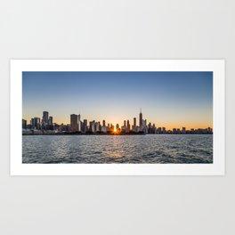 Chicago Skyline from Lake Michigan Art Print