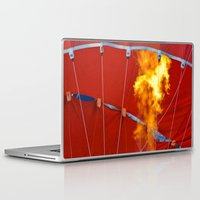 hot air balloons Laptop & iPad Skins featuring Hot Air Balloons  by Cornish Seascapes