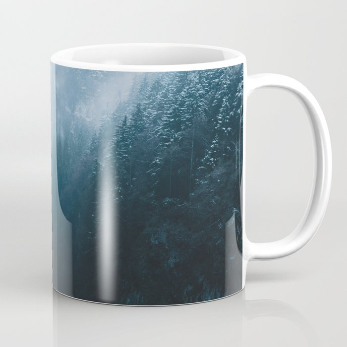 Foggy Forest Mountain Valley - Landscape Photography Coffee Mug