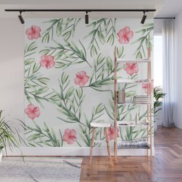 Delicate Hibiscus Wall Mural