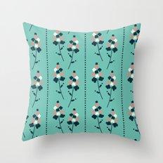 Garden Wallpaper Throw Pillow