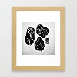 thinkstone, speakstone, peepstone Framed Art Print