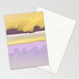 Abstract yellow Stationery Cards