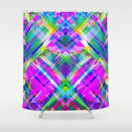 Colorful digital art splashing G469 Shower Curtain