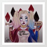 Harley Quinn Suicide Squad Art Print
