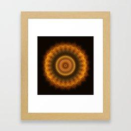 Fire Mandala Framed Art Print