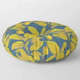 Exotic Pineapple Tropical Banana Palm Leaf Print Floor Pillow