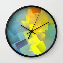 Cubism Abstract 205 Wall Clock