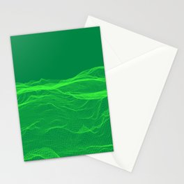 Abstract grid field art Stationery Cards