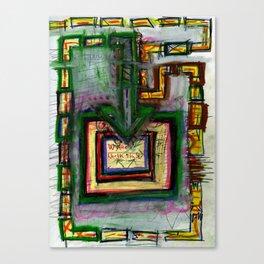 Non-Google Map Canvas Print