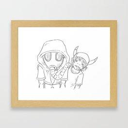 Terrible Two Framed Art Print