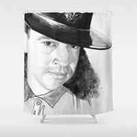 stevie nicks Shower Curtains featuring STEVIE RAY  by ART FEEDS HUNGER