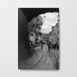 Streets of Freiburg Metal Print